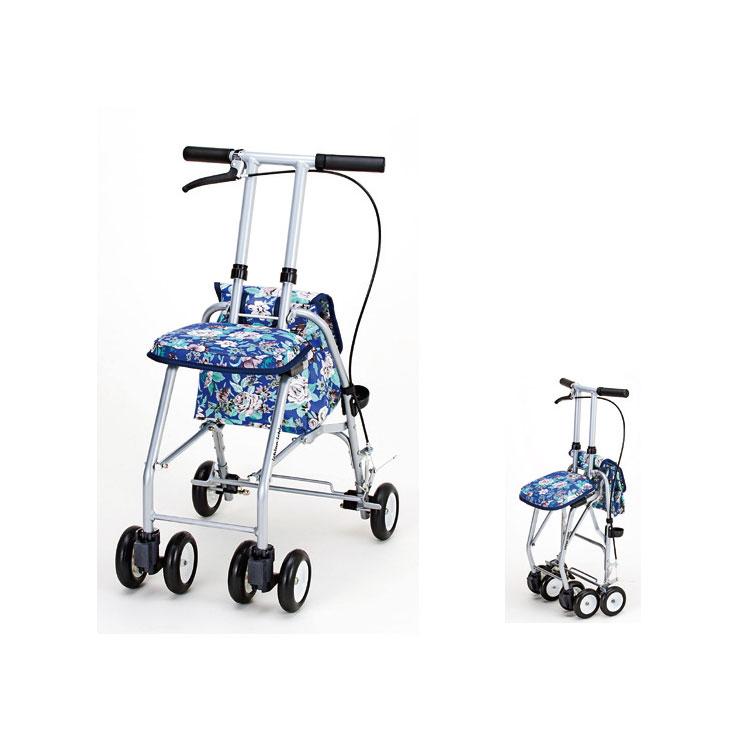 おでかけウォーク パート2 SX-12H 青花柄 マキテック コンパクトタイプ シルバーカー ショッピングカート 介護用品 シニア向け 高齢者