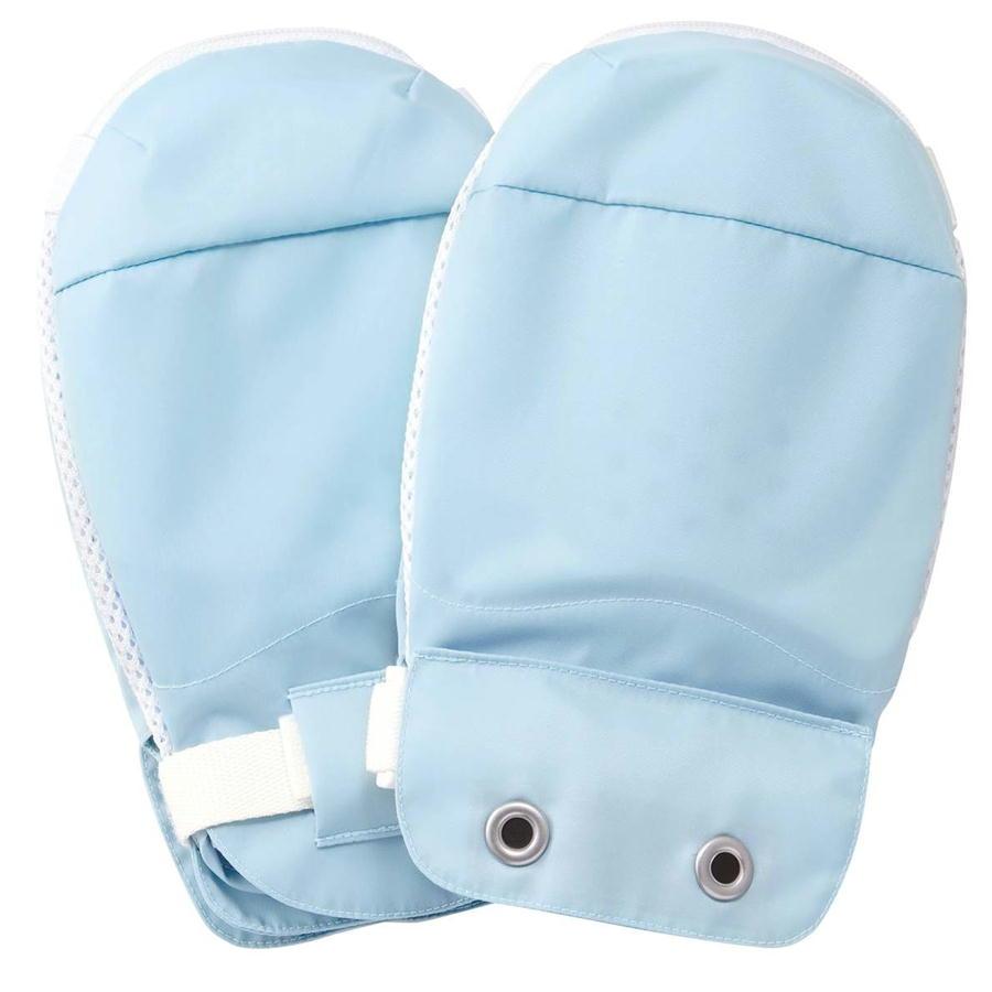 セーフミトンII 1双入 041051 ブルー 竹虎 両側に保護パット入り手袋