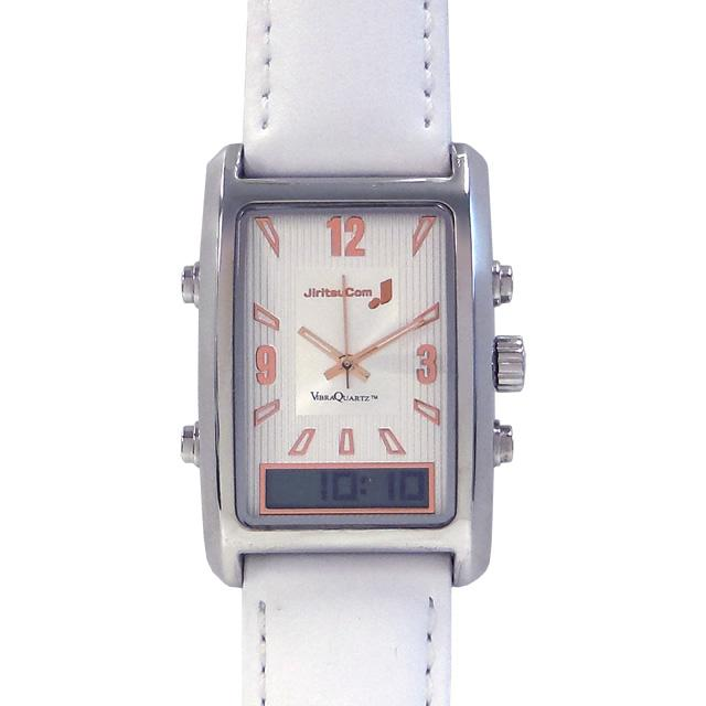 自立コム 振動腕時計 バイブラクオーツJ 白 VQ500JWM
