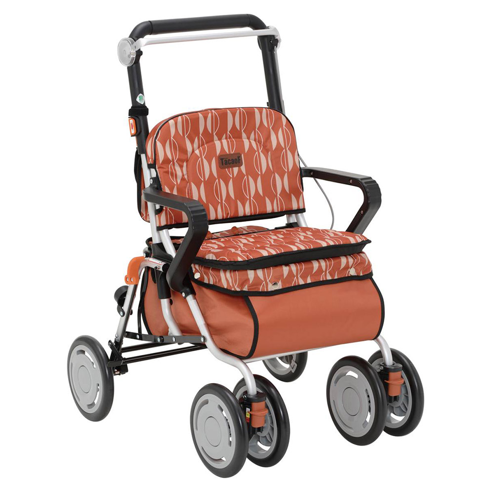 幸和製作所 テイコブ シルバーカー レコルティII オレンジ 高齢者向け ボックスタイプ SLT10