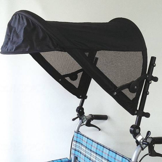 片山車椅子製作所 車椅子用日除け Tシェード 黒 AKT-0300