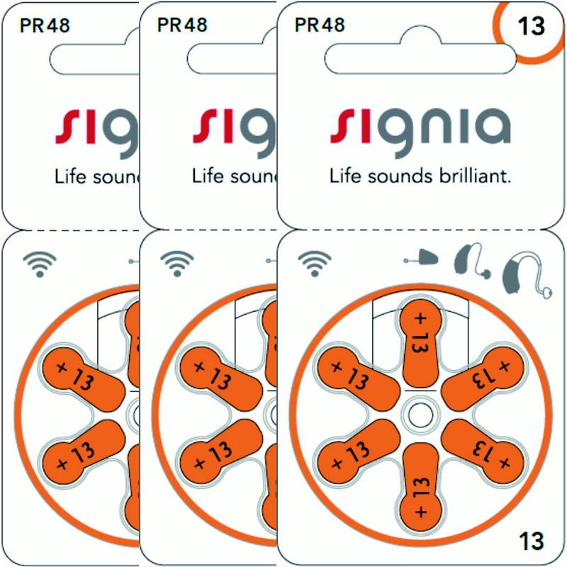 シーメンス 注目ブランド オーティコン フォナック 6粒入り正規品です リサウンド ワイデックス パナソニック オムロン リオン 3パック 訳あり商品 シグニア オレンジ リオネット全メーカー対応のドイツ製 補聴器電池 13 PR48 シバントス