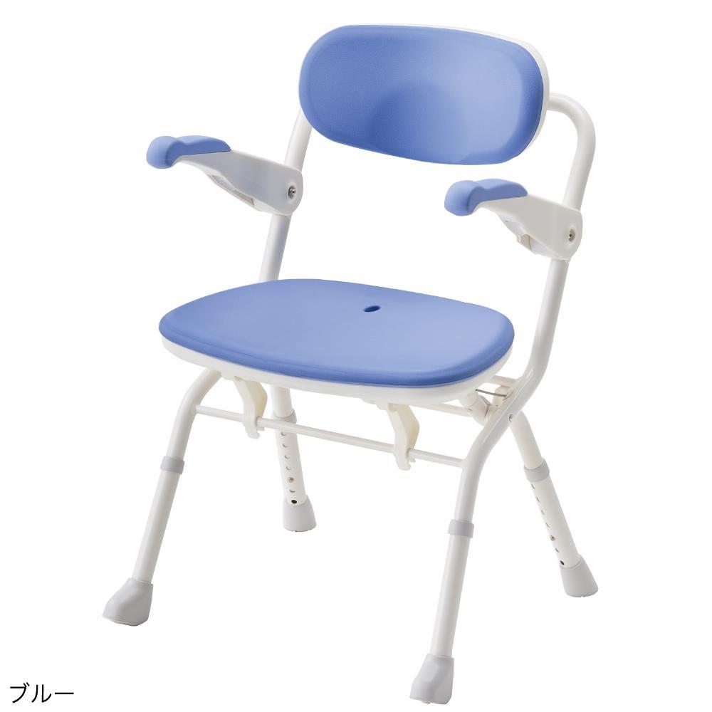 アロン化成 楽らく開閉シャワー ベンチS ブルー 536081