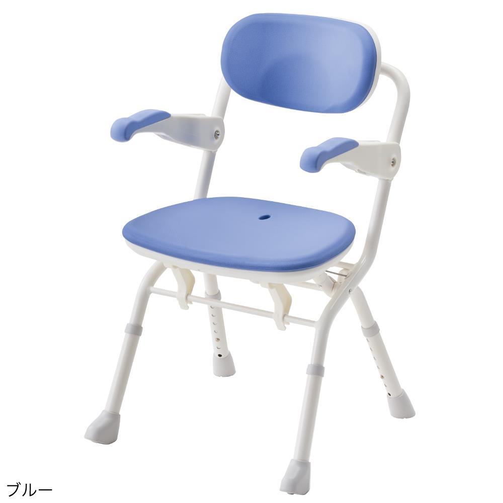 アロン化成 楽らく開閉シャワー ベンチSフィット ブルー 536091