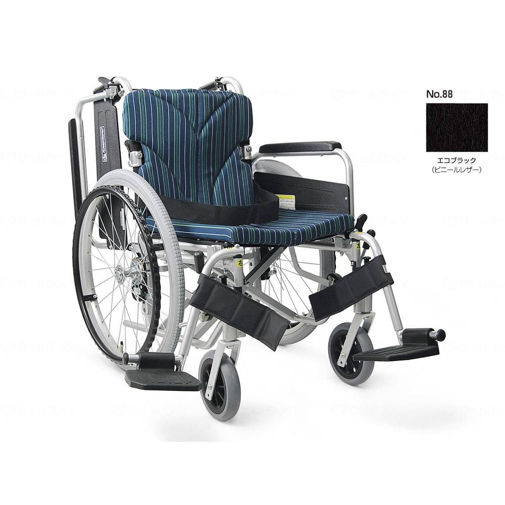 カワムラサイクル 簡易モジュール自走用 高床タイプ 車いす エコブラック 座幅42cm KA822-42B-H