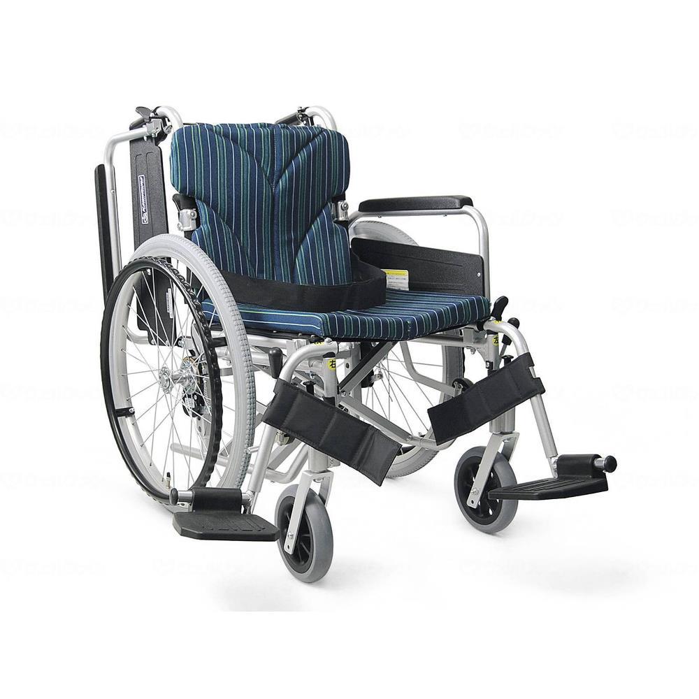 カワムラサイクル 簡易モジュール自走用 低床タイプ 車いす ピーコックブルー 座幅42cm KA822-42B-LO