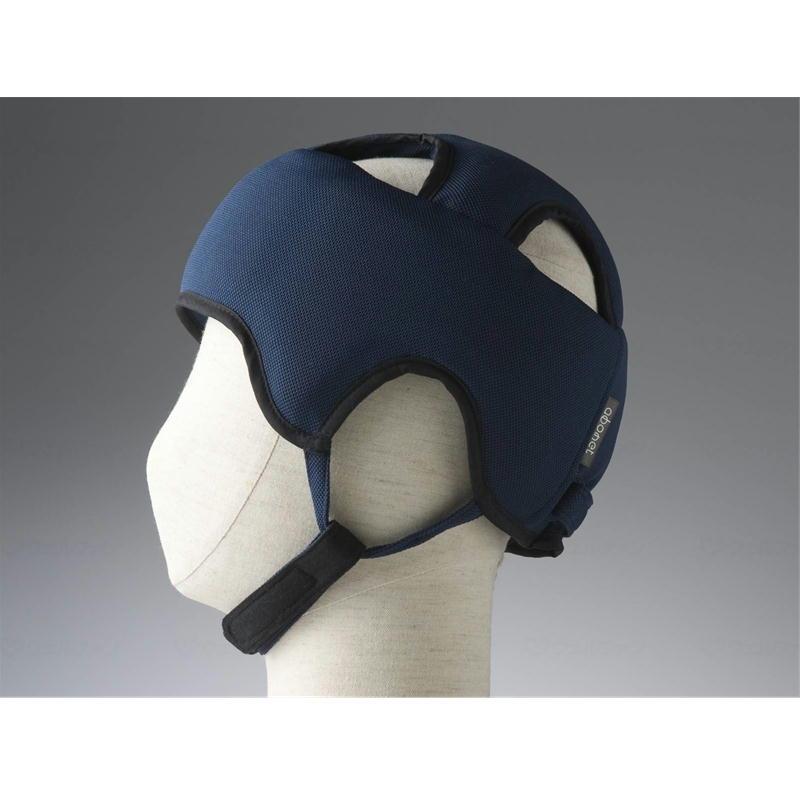 頭を全体的に守る保護帽子 サイズ調節可能 在庫処分 あごひも付き ブランド品 抗菌 防臭 浅型 全方向衝撃吸収型 59~61cm対応 2072 ネイビー スタンダードN 介護用品 特殊衣料 アボネットガードA L