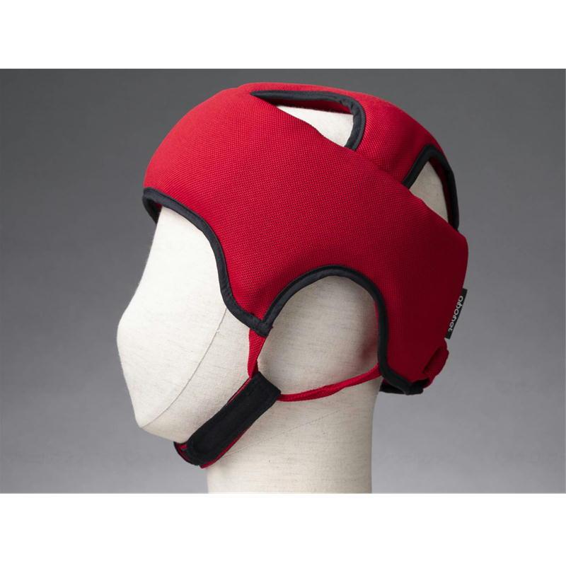 送料無料限定セール中 頭を全体的に守る保護帽子 サイズ調節可能 あごひも付き 抗菌 防臭 浅型 全方向衝撃吸収型 59~61cm対応 超安い 介護用品 2072 特殊衣料 スタンダードN L レッド アボネットガードA