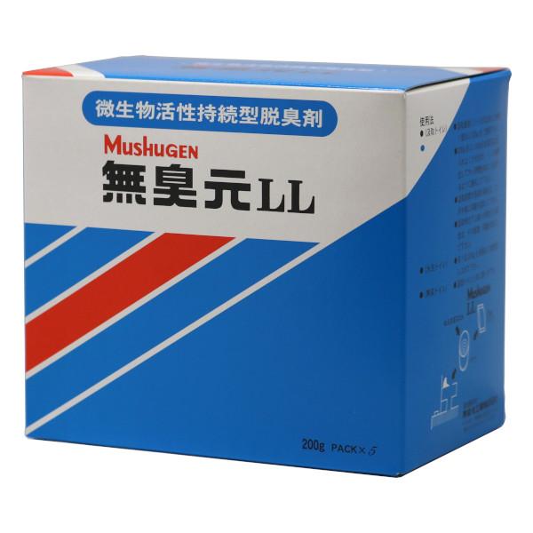 無臭元LL 1kg×16箱/ケース くみとりトイレ・仮設トイレ用消臭剤
