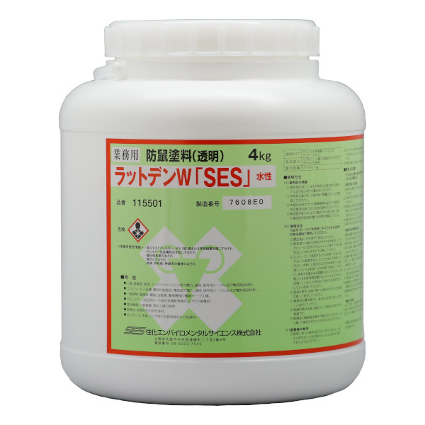 ラットデンW「SES」 4kg カプサイシン類含有防鼠塗料