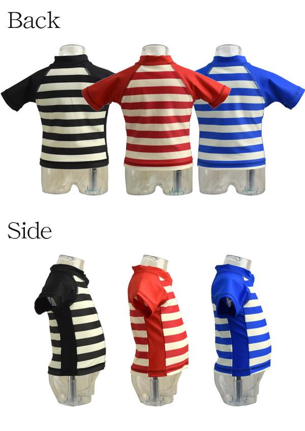 e639fbecd ... Product made in Anna Nicola (Anna Nichola) horizontal stripes short  sleeves rush guard baby ...
