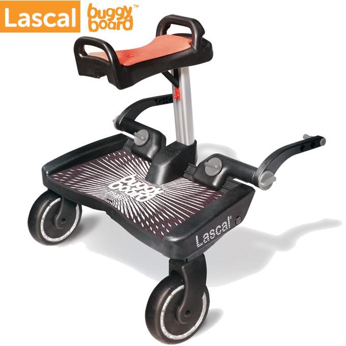 ラスカル(Lascal) バギーボードマキシ+ サドルセット ブラック×レッド