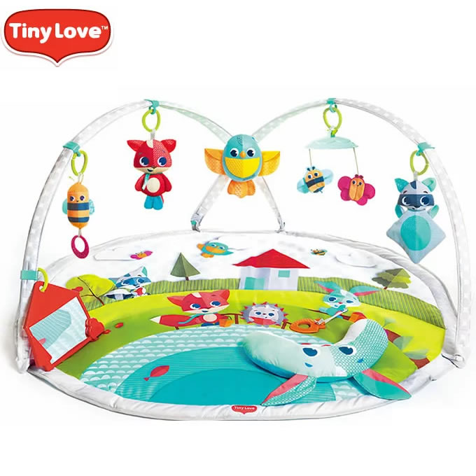 タイニーラブ(TINY LOVE)Meadow Days メドウデイズ 4Way ダイナミックジミニー プレイマット(赤ちゃん プレイマット ベビー 円形 プレイジム ベビー ギフト 赤ちゃん 子供)