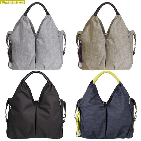 Lassig(レッシグ) グリーン ネックラインバッグ マザーズバッグ(ママバッグ マザーバッグ 大容量 ポケット たくさん 出産祝い ギフト バッグ お祝い 送料無料)
