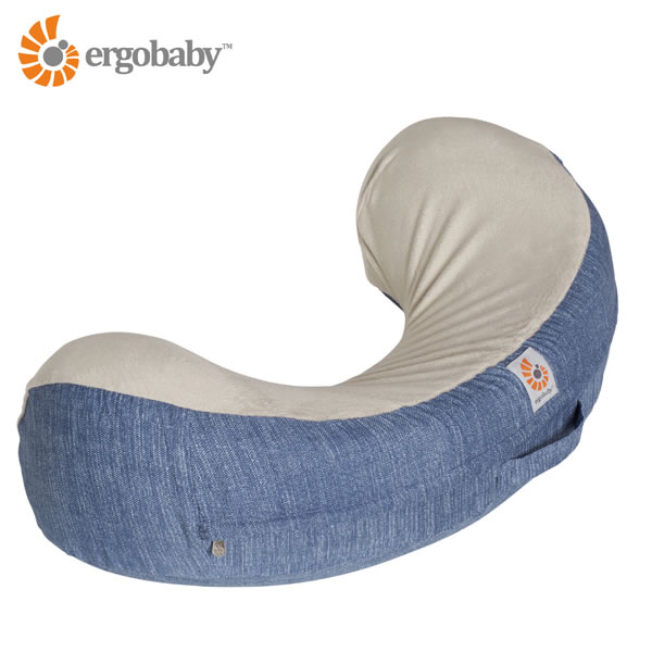 ERGObaby エルゴベビー・ナチュラルカーブ・ナーシングピロー(授乳クッション) ヴィンテージブルー(授乳 便利 グッズ)