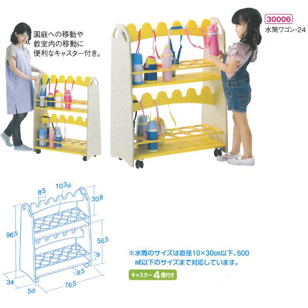 【代金引換不可】【お客様都合による返品交換不可】(送料込)水筒ワゴン 保育用品
