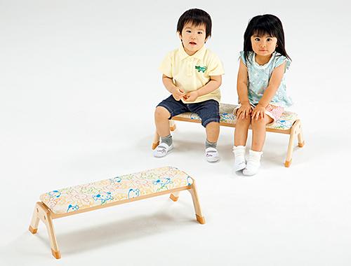 【代金引換不可】【お客様都合による返品交換不可】木製ソフトベンチ 保育用品