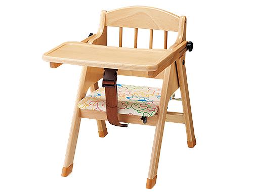 【代金引換不可】【お客様都合による返品交換不可】乳児用木製いす・スライド式 保育用品