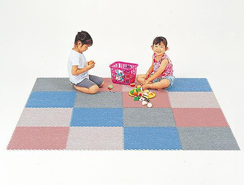 【代金引換不可】【お客様都合による返品交換不可】フェルマット(4色16枚組) 保育用品