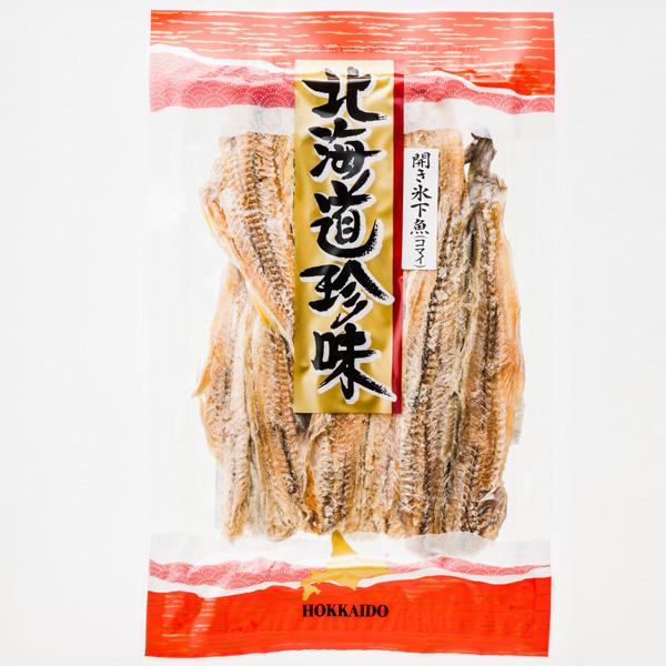 北海道珍味 開き氷下魚 迅速な対応で商品をお届け致します 上品 コマイ 100g