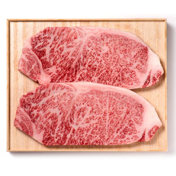 阿部牛肉加工 白老牛ロースステーキ 2枚(180g×2枚) 【冷凍商品】