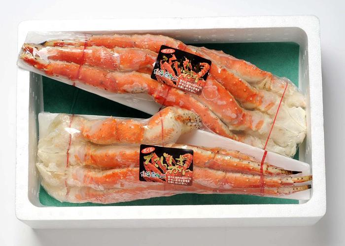 帝王蟹腿2瓶一套巴裏紗冷凍帝王蟹腿1kg*2肩膀