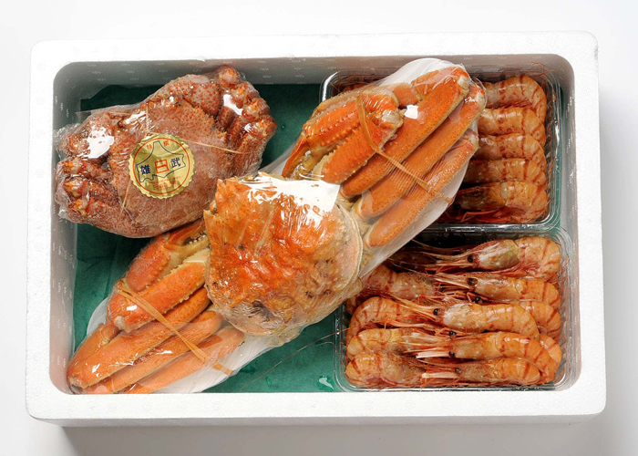 Hokkaido Hokkaido hair crab shape and hold set Boyle frozen snowcrab appearance around 800 g x 1 tail spot prawns 500 g x 2 Pack boil frozen horsehair around 500 g × 1 tail