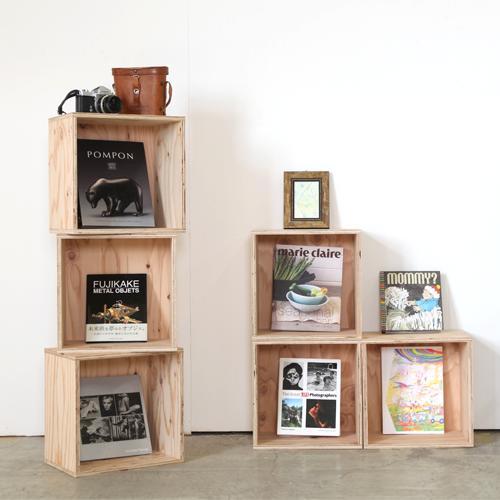 【送料無料(北海道のみ)】 おしゃれな WOOD BOX・多機能収納ボックス・木材・ウッド・木箱・木製 360セット×6個[塗装あり]