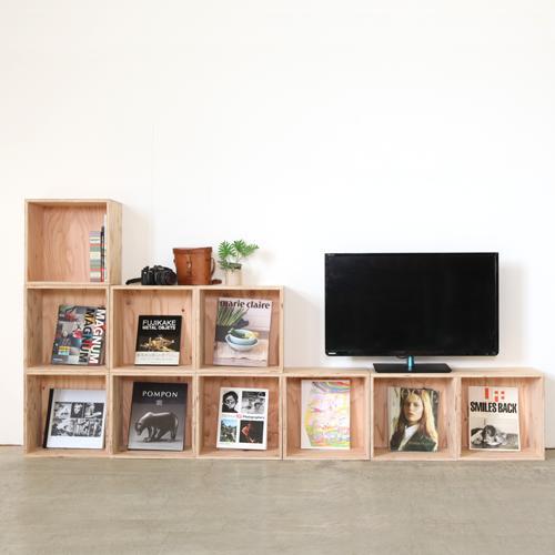 【送料無料(北海道のみ)】 おしゃれな WOOD BOX・多機能収納ボックス・木材・ウッド・木箱・木製 360セット×10個[塗装あり]