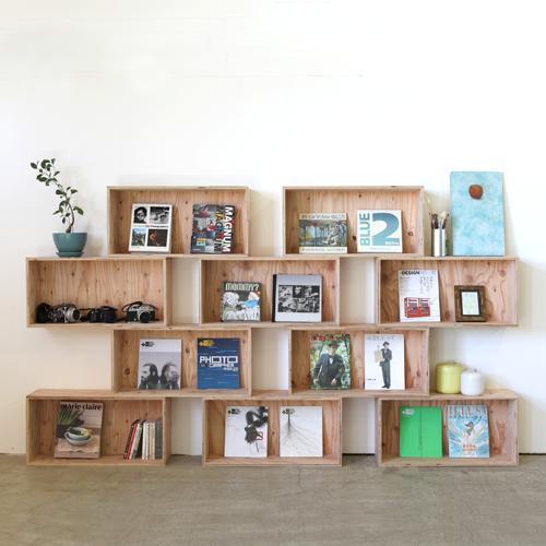 【送料無料(北海道のみ)】 おしゃれな WOOD BOX・多機能収納ボックス・木材・ウッド・木箱・木製 720セット×10個[塗装あり]