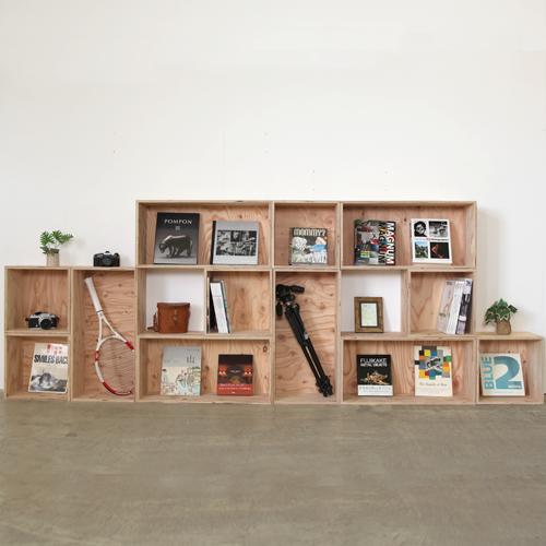【送料無料(北海道のみ)】 おしゃれな WOOD BOX・多機能収納ボックス・木材・ウッド・木箱・木製 360×6個、720×6個[塗装あり]