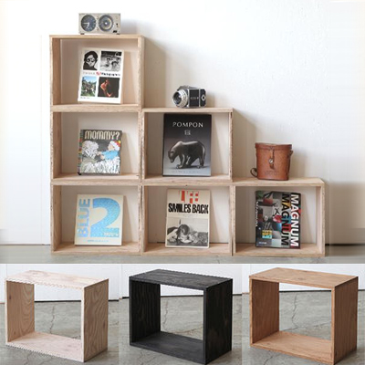 組み合わせ自由なボックス収納。木箱・木製 キューブボックス 【CUBE BOX】Mサイズ(単品・塗装あり)・北海道産木材・カラーボックス・テレビボード・ディスプレイラック・本棚・棚付・隙間収納・壁面収納・収納棚・組み合わせ収納ボックス・書棚・木箱