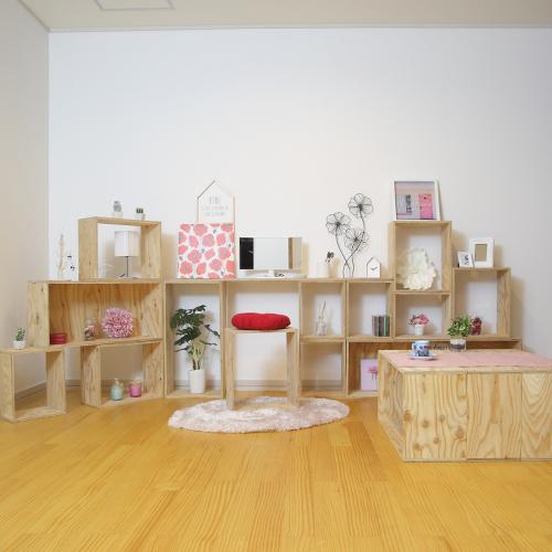 【送料無料(北海道のみ)】 おしゃれな WOOD BOX・多機能収納ボックス・木材・ウッド・木箱・木製 - SINGLE Women's STYLE SET - 計17個《動画で公開中セット商品》