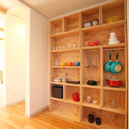 【送料無料(北海道のみ)】 おしゃれな WOOD BOX・多機能収納ボックス・木材・ウッド・木箱・木製 - キッチン収納セット2 - 計16個