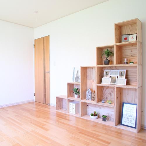 【送料無料(北海道のみ)】 おしゃれな WOOD BOX・多機能収納ボックス・木材・ウッド・木箱・木製 - 一人暮らしセット2 - 計11個