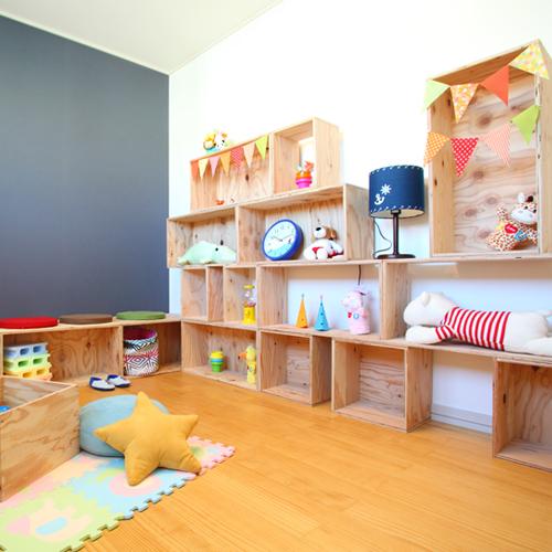 【送料無料(北海道のみ)】 おしゃれな WOOD BOX・多機能収納ボックス・木材・ウッド・木箱・木製 - 子供部屋収納セット2 - 計18個