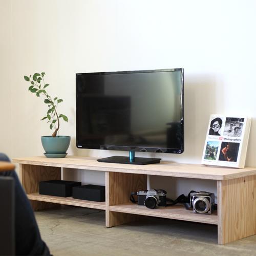 【送料無料(北海道のみ)】 TVボード 幅・木材・ウッド・木製 1800[無塗装]