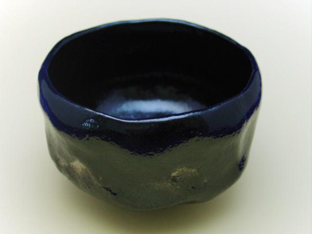 【清水焼】黒楽抹茶碗