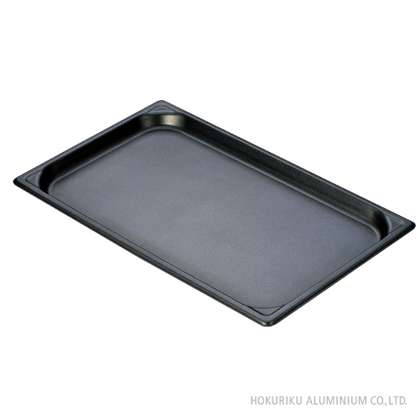 マイスターアルミホテルパン 1/1サイズ (ノンスティック加工) 100mmホテルパン 日本製 アルミ 軽い 業務用 プロ オーブン 冷凍 冷蔵 保存 熱伝導 ふっ素樹脂加工