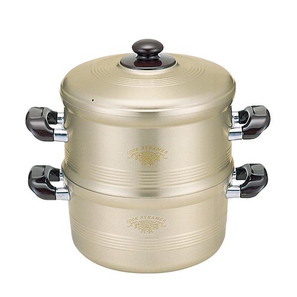 IH Gクックスチーマー/26cm蒸す セイロ アルミ 軽い 鋳造 電磁調理器