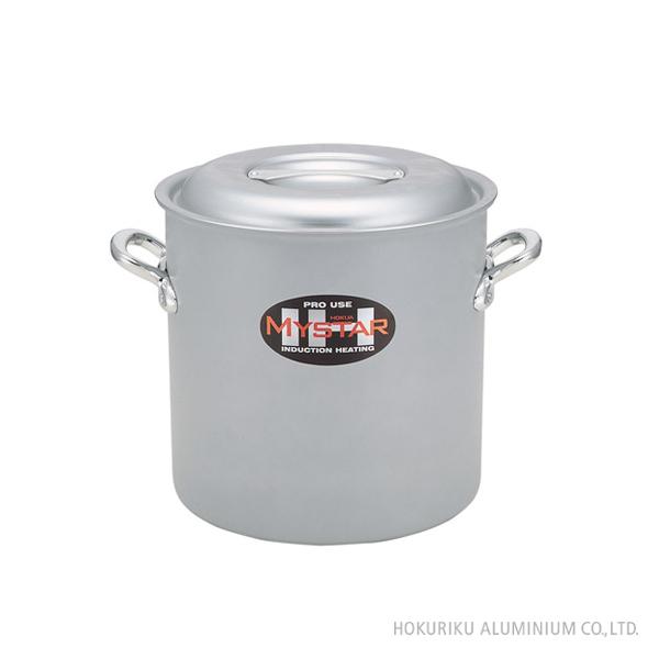 プロマイスター(業務用)IH寸胴鍋/45cm深い 深型 両手鍋 アルミ 軽い アルマイト 日本製  IH 電磁調理器 業務用