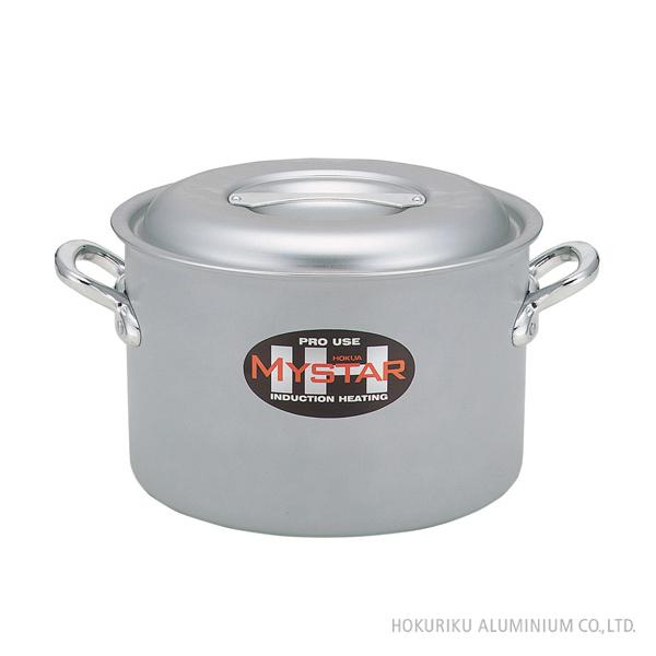 プロマイスター(業務用)IH半寸胴鍋/42cm深い 深型 両手鍋 アルミ 軽い アルマイト 日本製  IH 電磁調理器 業務用