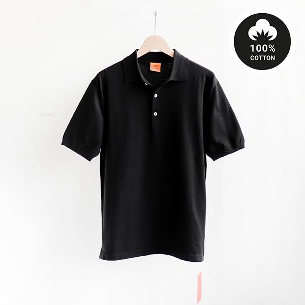 ANDERSEN-ANDERSEN アンデルセンアンデルセンPolo Shirt 12GG Blackポロシャツ ブラック [Casual]