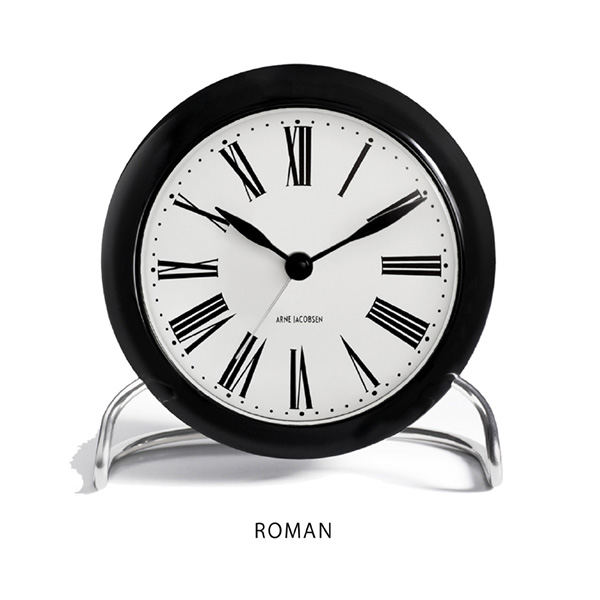 Arne Jacobsen Roman Table Clockアルネ・ヤコブセン ローマン テーブルクロック [Cozy]