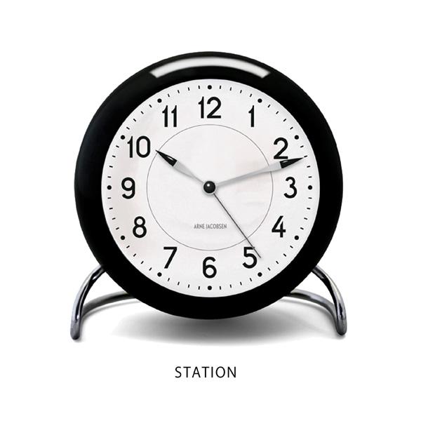 Arne Jacobsen Station Table Clockアルネ・ヤコブセン ステーション テーブルクロック [Cozy]