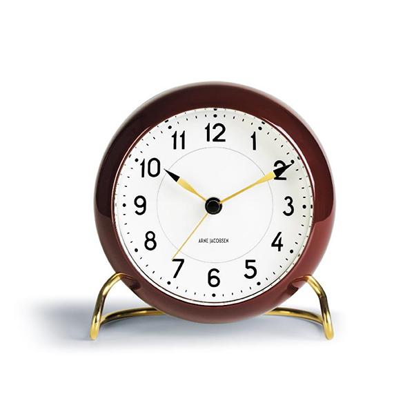 Arne Jacobsen アルネ・ヤコブセンStation Table Clock 2019 Limited Color Burgundayステーションテーブルクロック 2019限定色 バーガンディー