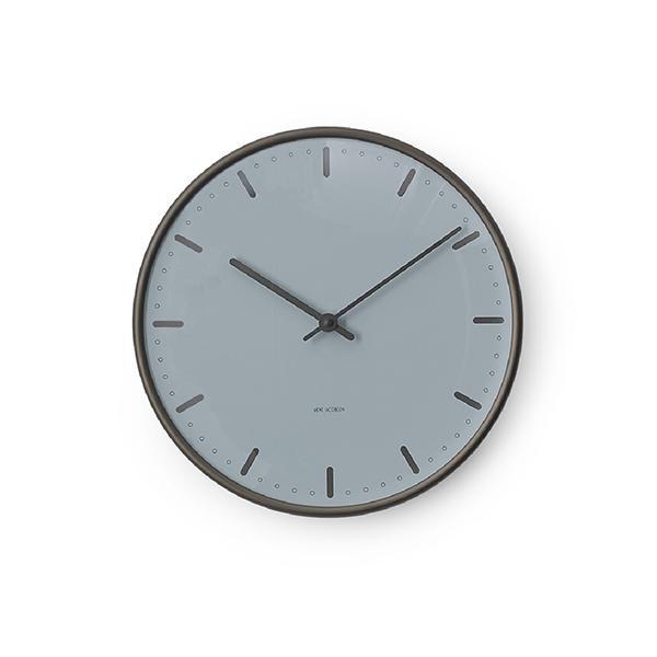 再入荷!Jacobsen City Hall Wall Clock Royal Blueローゼンダール アルネ・ヤコブセンシティホールクロック ロイヤルブルー 29cm