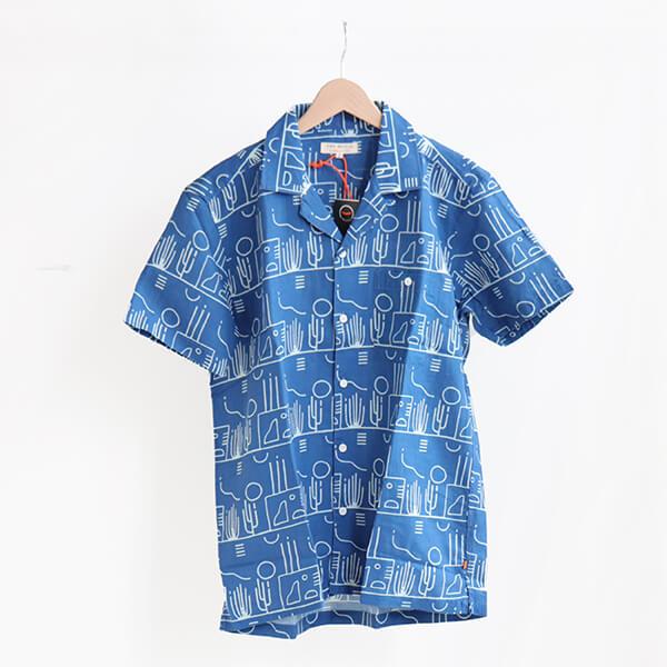 FAR AFIELD ファー アフィールド SELLECK SHIRTS Puebra blue (M)シェレックシャツ プエブラブルー