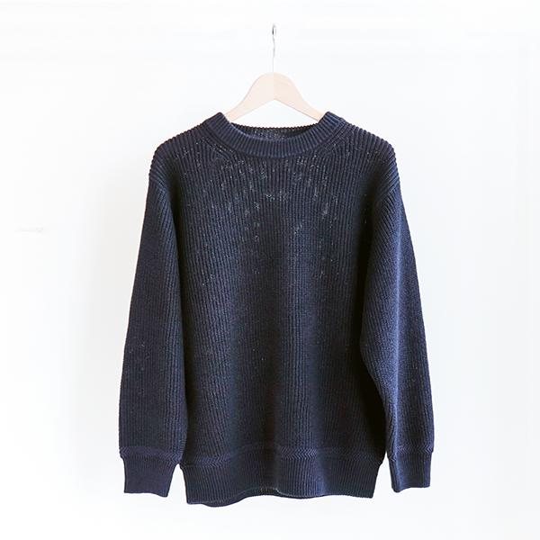 FilMelange フィルメランジェGENE Cotton Sweater Black Navyジーン ギマニット ブラックネイビー[Casual]
