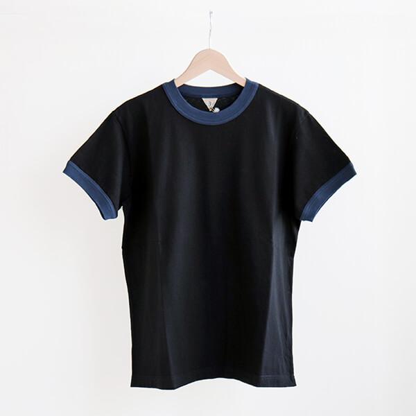 FilMelange フィルメランジェVOLKER T-shirt Black Navyヴォルカー Tシャツ ブラックネイビー